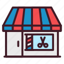 barber, barbershop, building, salon, shop icon