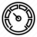 barometer, car, display, internet, meter, technology, yul756 icon
