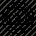 arrow, barometer, car, internet, logo, meter, technology icon