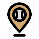 baseball, game, location, match, sports icon