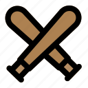 baseball, bat, game, match, sports icon