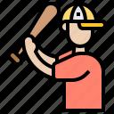 athlete, balls, batter, practice, sport icon