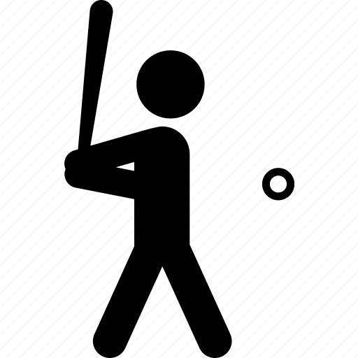 athlete, baseball, batter up, pitch, sports, strike, swing icon