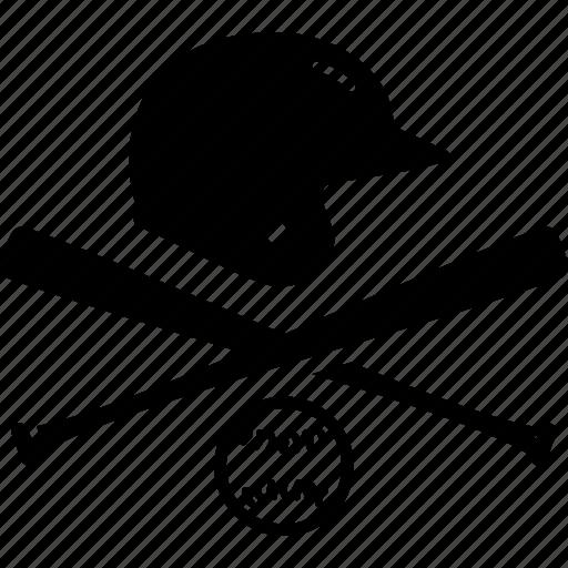 ball, baseball, emblem, helmet, logo icon