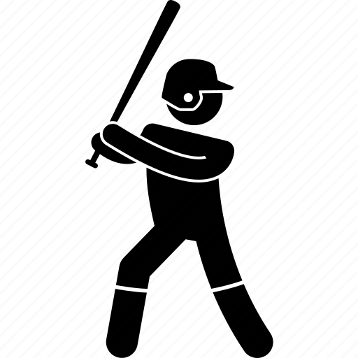 baseball, batsman, hit, hitter, player, ready icon