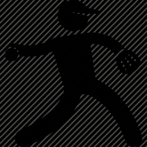 ball, baseball, player, posture, swing, throw, throwing icon