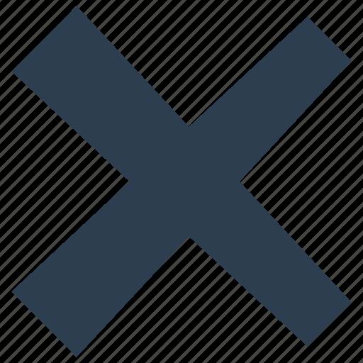 Close, cross, delete, no, remove icon - Download on Iconfinder