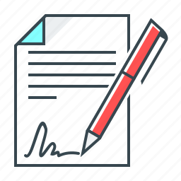 agreement, contract, document, sign, signature icon