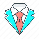 code, costume, dress, dress code, elegant, suit, tie icon