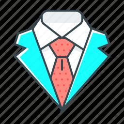 code, costume, dress, dress code, elegant, suit, tie icon