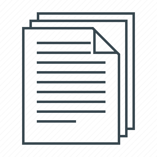 documents, pages, paper icon