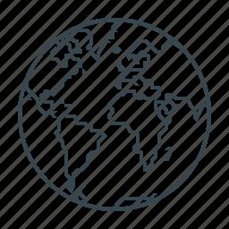 earth, global, globe, map, planet icon