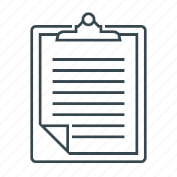 clipboard, document, page, paper, sheet icon