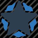 badge, star, sticker icon