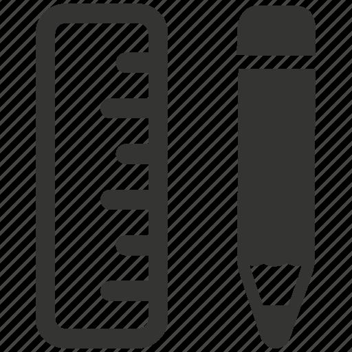 design, design tool, pencil, ruler icon