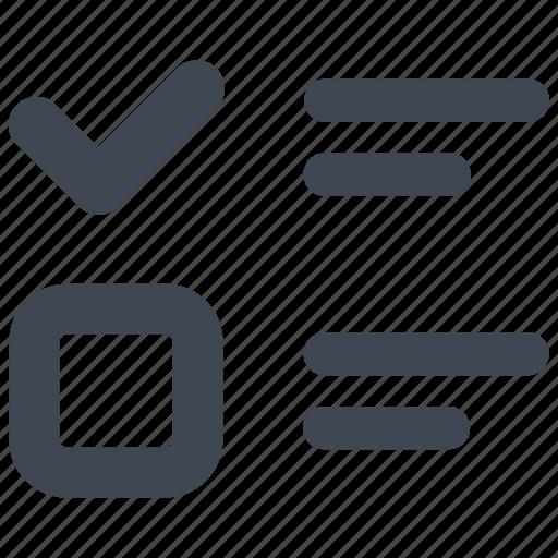checklist, checkmark, tasks icon