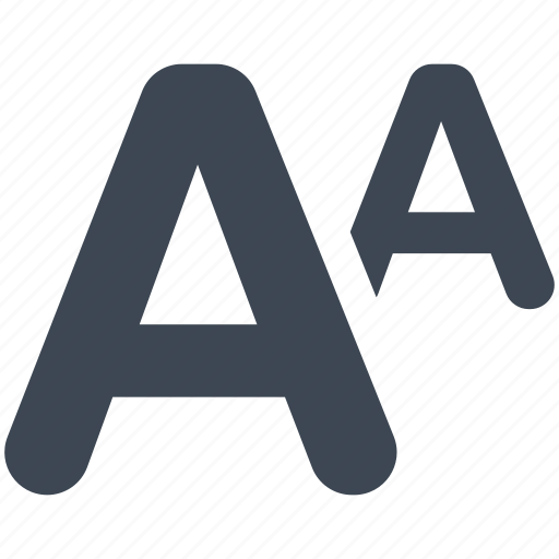 font, language, size icon