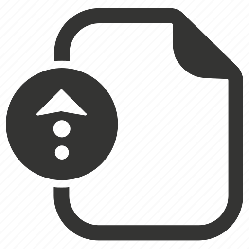 document, file upload, storage icon