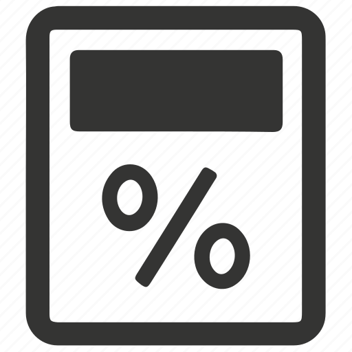 Calculator, percentage icon - Download on Iconfinder