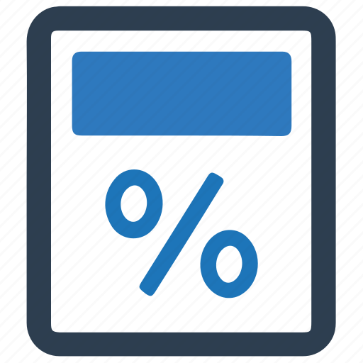 Calculator, education, percentage icon - Download on Iconfinder