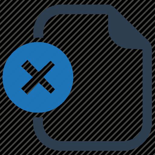 delete, file, remove icon