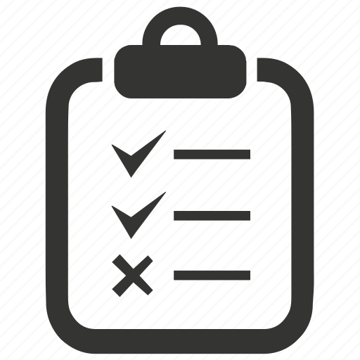 checklist, clipboard, tasks icon