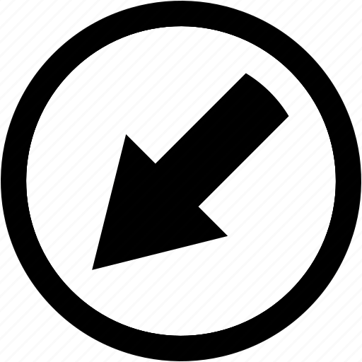 Arrow, bottom, left icon - Download on Iconfinder
