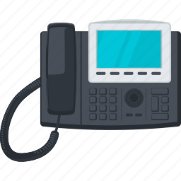 call, communication, contact, device, flat design, telephone icon