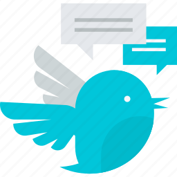 comments, communication, contact, flat design, message, tweet, twitter icon