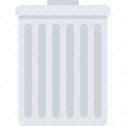 business, delete, flat design, recycle bin, trash icon