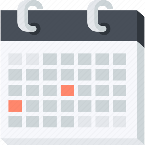 calendar, celebration, events, flat design, holiday, organizer, schedule icon