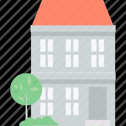 architecture, building, construction, flat design, home, real estate icon