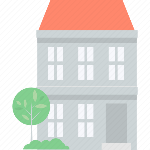 architecture, building, construction, flat design, home, real estate icon