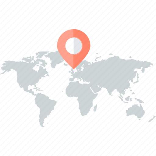 direction, flat design, location, map, navigation, pin icon