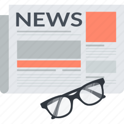 flat design, information, news, newspaper icon