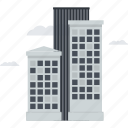 building, city, company, construction, office, skyscraper icon
