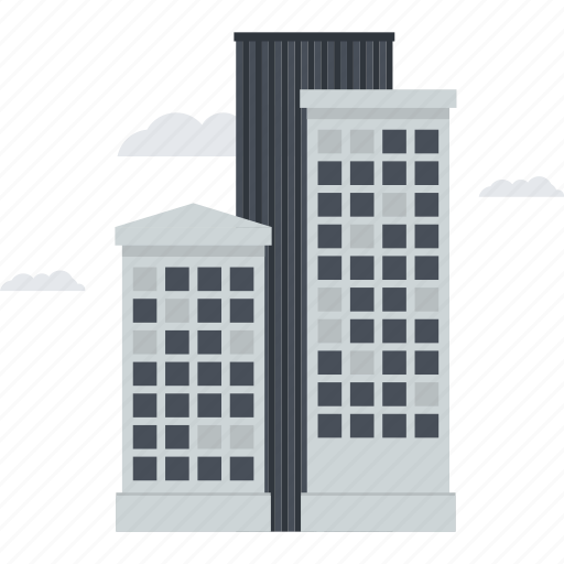 building, city, company, construction, flat design, office, skyscraper icon