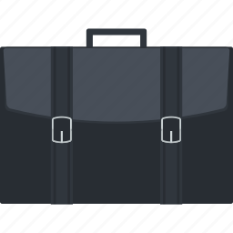 bag, briefcase, business, flat design, portfolio icon