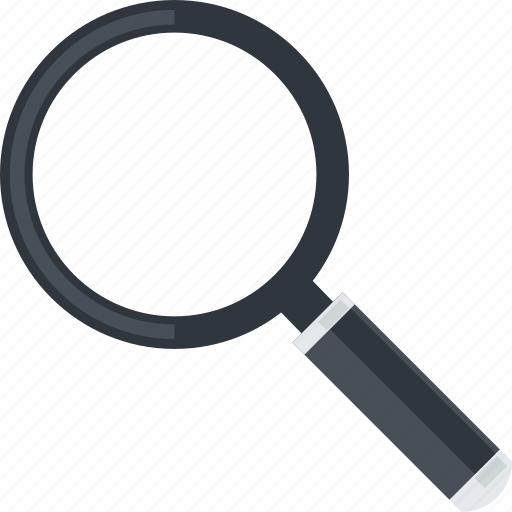 business, flat design, magnifier, office, search, tool icon
