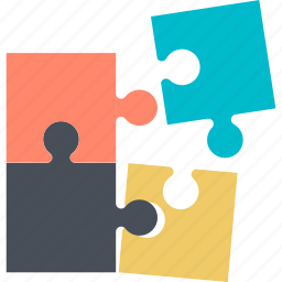 business, challenge, concept, flat design, puzzle, solutions icon