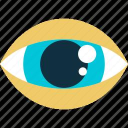 control, eye, eyesight, flat design, ophthalmologist, vision icon