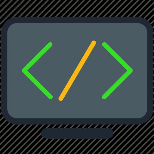 code, coding, development, programme, source icon