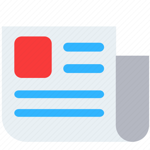 details, facts, news, paper icon