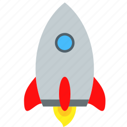 ambition, fire, get, mission, rocket, start, vision icon