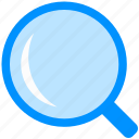 glass, magnifier, research, search, tool, zoom icon