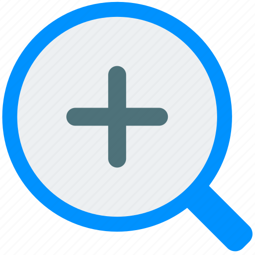 glass, in, magnifier, search, tool, zoom icon
