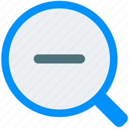 magnifier, out, search, tool, zoom icon