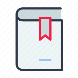 book, bookmark, education, reed, text icon