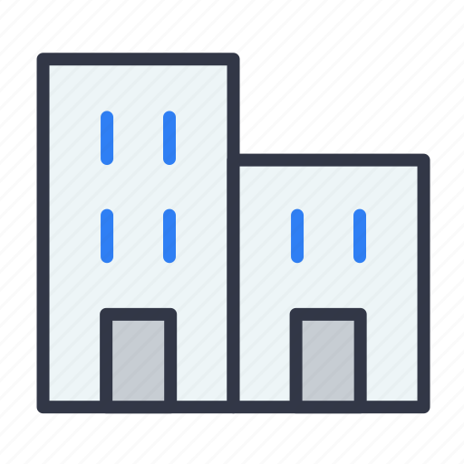 apartments, building, office, real estate, residential icon