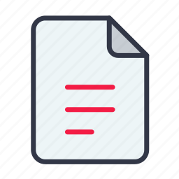 document, file, notes, report, text icon